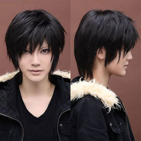 anime hairstyles male real 28 cm harajuku anime cosplay wig men boys short top