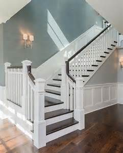 Ideas For Painting Stair Banisters 25 Best Ideas About Wainscoting Stairs On Pinterest
