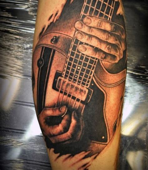 acoustic guitar tattoo 65 guitar tattoos for acoustic and electric designs