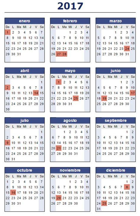 Calendario Con Feriados 2017 Para Imprimir 191 C 243 Mo Quedaron Los Feriados Para El 2017 Que Pasa