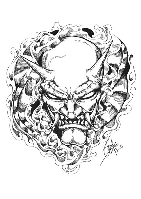 oni mask tattoo designs oni mask by terryrism on deviantart