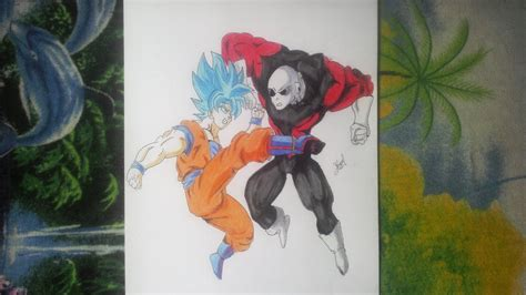 imagenes goku vs jiren dibujando a goku vs jiren dibujos con l 225 piz youtube