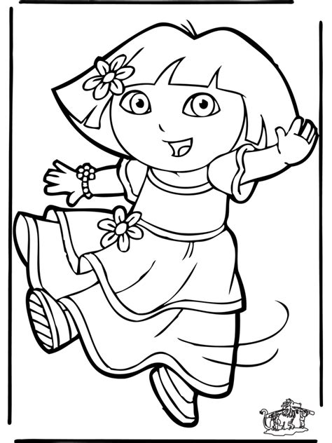 dora and buji coloring page dora 11 kleurplaat dora
