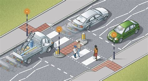 at the crossing for pedestrians crossings 18 to 30 the highway