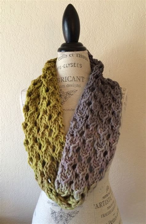 pattern super bulky yarn bulky lace cowl free knitting pattern blog nobleknits