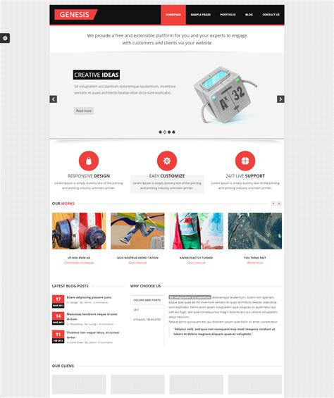 html5 bootstrap free templates 7 premium bootstrap html5 templates
