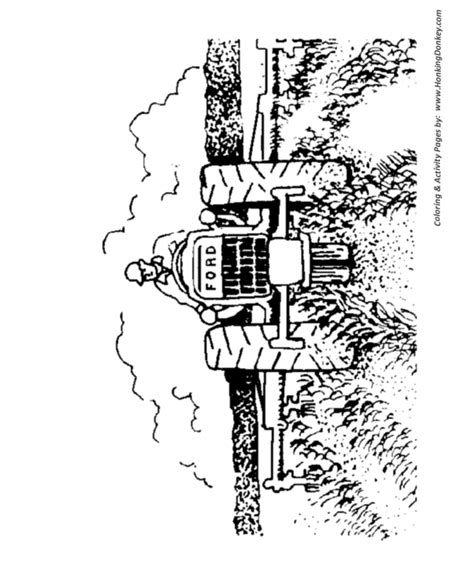 farm equipment colouring pages