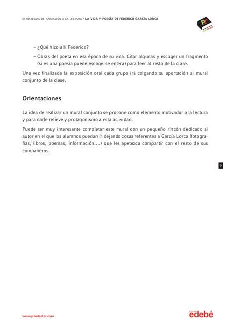 leer libro e poeta en granada vida federico federico garc 237 a lorca estrategias de animaci 243 n a la lectura