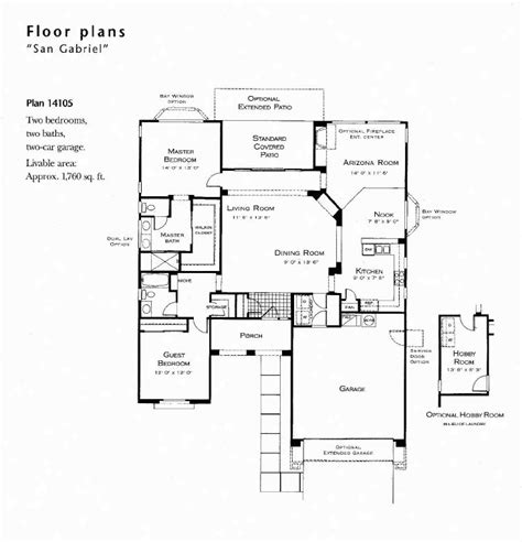 floor plan holder san gabrial model floor plan