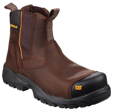 caterpillar propane mens safety s3 dealer brown boot