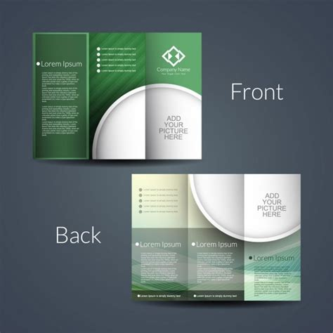 two sided brochure template sided brochure vector free
