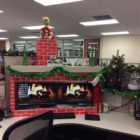 desk ideas for work tis the season to be jolly my coworker i decorated our