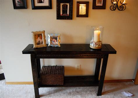 ana white easy console table diy projects