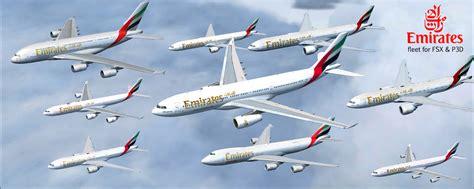 Emirates Fleet | download emirates fleet fsx p3d rikoooo