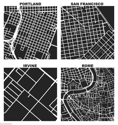 grid pattern streets square mile maps reveal how different world s cities are