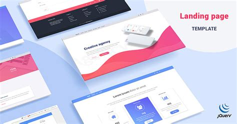 jquery landing page templates mdb landing page template pro jquery version material