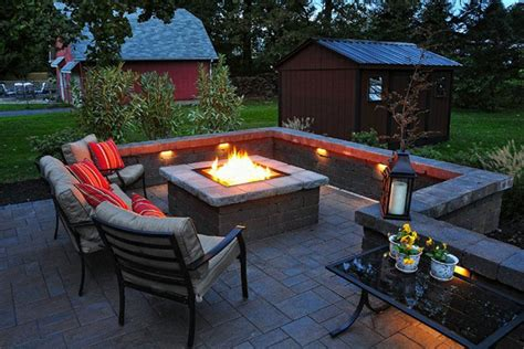 How To Build A Square Fire Pit With Pavers Square Fire How To Build A Firepit With Pavers