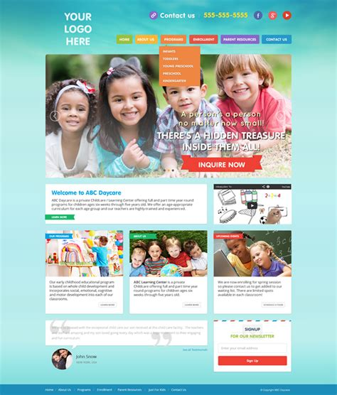 Daycare Website Templates Childcare Website Templates Day Care Website Designs Childcare Daycare Website Templates Free