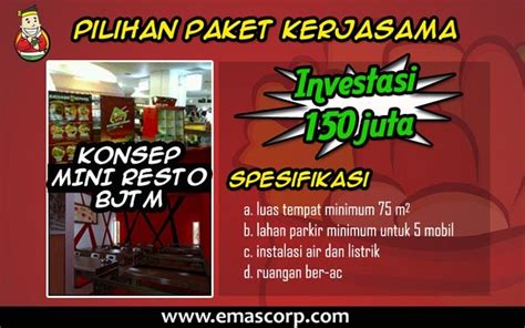 Paket Tumpeng Besar Eko B Paket Tah franchise batagor jepang takashi mura info waralaba