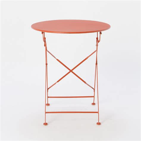 Indoor Bistro Table Painted Metal Bistro Table Modern Indoor Pub And Bistro Sets By Terrain