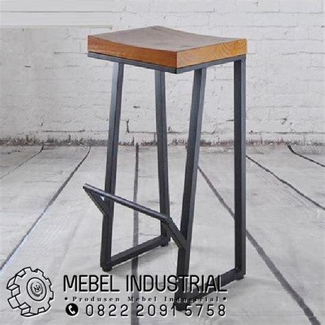 Jual Kursi Bar Kayu Jakarta kursi bar stool besi kayu jati industrial mebelindustrial