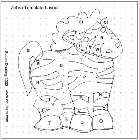 layout zebra zebra quilt block to applique