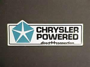 Direct Connection Chrysler Chrysler Powered Direct Connection Mopar Decal Cuda Gtx Ebay