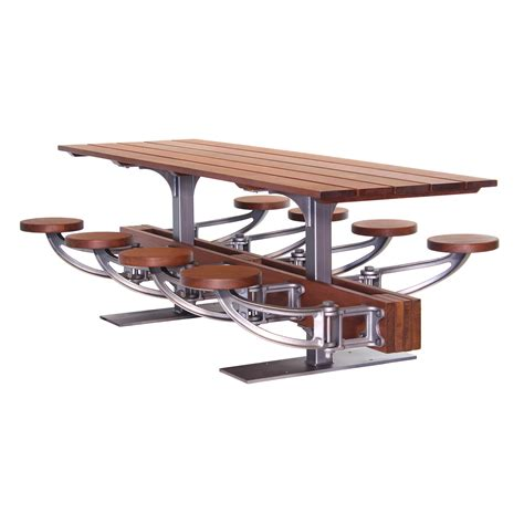 swing table the industrial swing out seat outdoor dining table set
