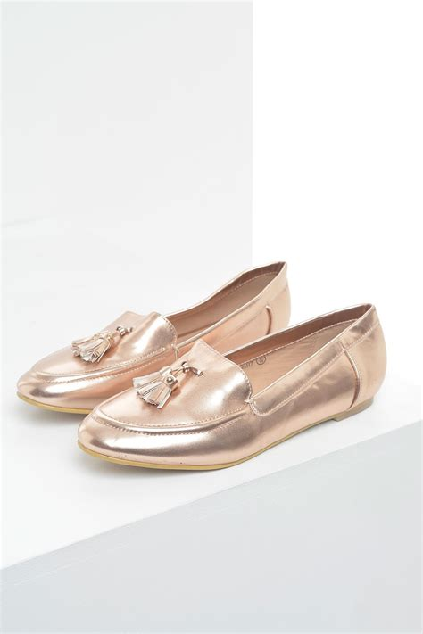 gold tassel loafers no doubt lola tassel loafer in gold iclothing
