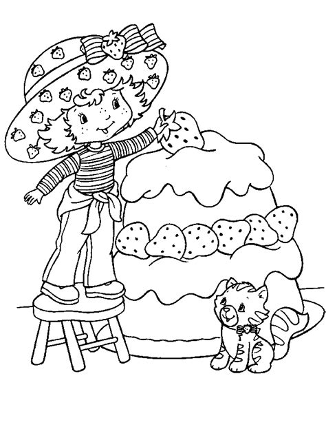 Free Printable Strawberry Shortcake Coloring Pages For Kids Strawberry Shortcake Coloring Pages