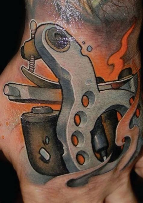 tattoos machine machine by victor chil inkedmagazine