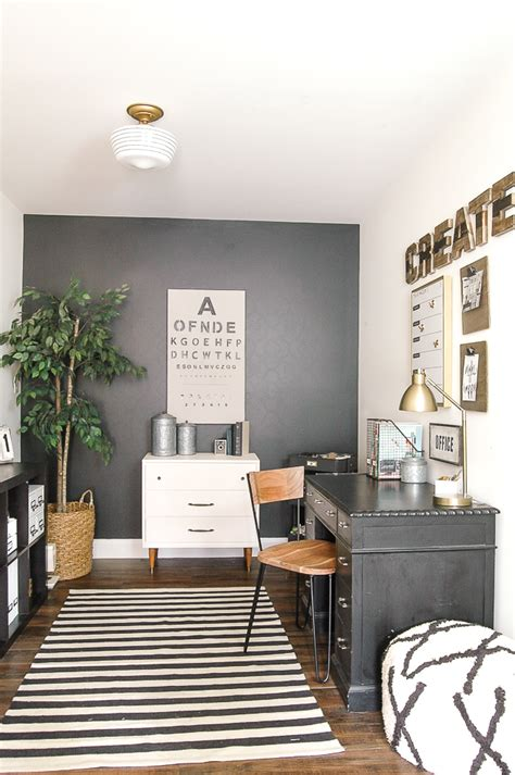 modern office decor modern industrial farmhouse office reveal little house