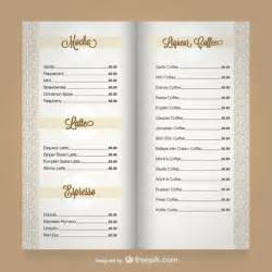 Free Coffee Shop Menu Template by Free Menu Template Bestsellerbookdb