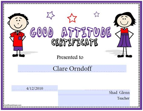 certificates for kids free printable certificates