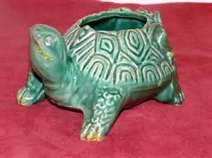 vintage mccoy turtle planter green ceramic 1960 by allunique