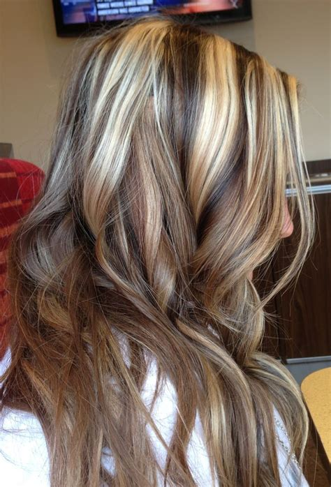 pictures of blonde hair with brown highlights dark brown lowlights and blonde highlights hair