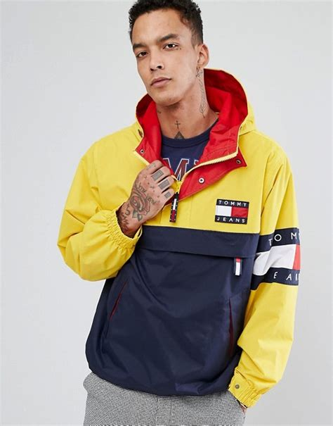 Jaket Navi Black Yellow 1 90 s capsule overhead jacket color block in navy yellow