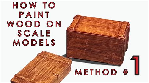 how to paint woodwork how to paint wood on scale models method 1 of 3