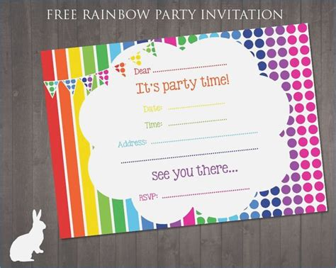 sle printable invitation cards 170 best free printable birthday party invitations images