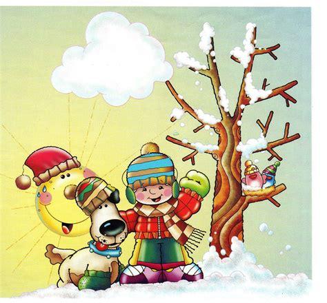 imagenes de invierno dibujos animados estaciones del a 241 o fichas para trabajar el invierno