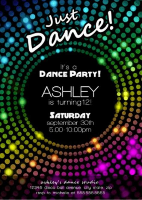 Free Disco Party Invitation Encore Kids Parties Disco Invitations Free Template
