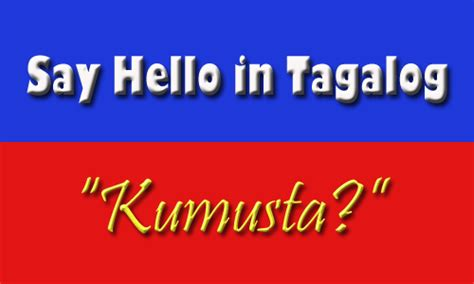 Or In Tagalog Hello Level 1 Lesson 1 Say Hello In Tagalog