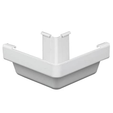 Vinyl Gutters Home Depot by Amerimax Home Products White Vinyl K Style Outside Corner