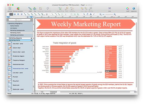 weekly marketing report template interior design office layout plan design element