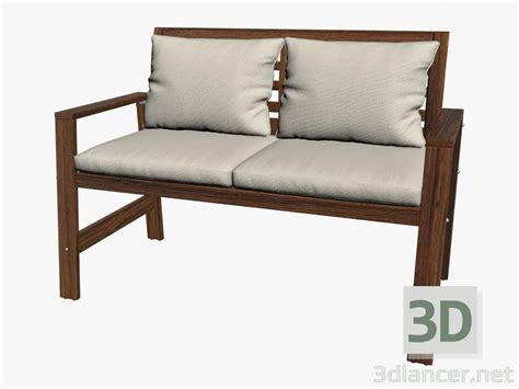 model bench 3d model bench with cushions manufacturer ikea id 16176