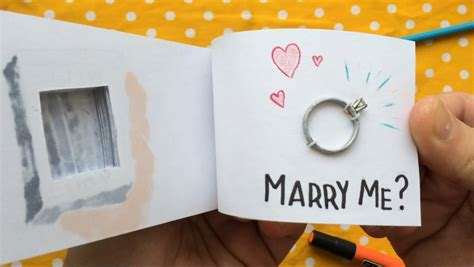 with this ring books flipbook with engagement ring compartment
