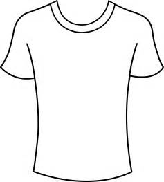 T Shirt Outline by Mens T Shirt Template Free Clip