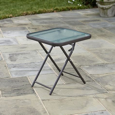 Folding Patio Side Table Icamblog Small Patio Side Tables