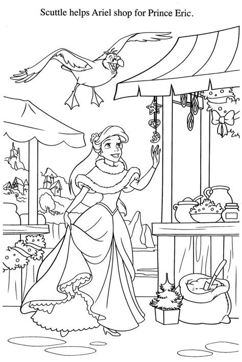 ariel winter coloring pages disney malvorlagen 2199 32 ausmalbilder kostenlos
