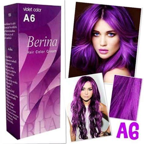 permanent hair color purple 1xberina a6 professional permanent hair dye violet